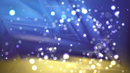 Abstract Blue and Gold Blur Lights Background Vector