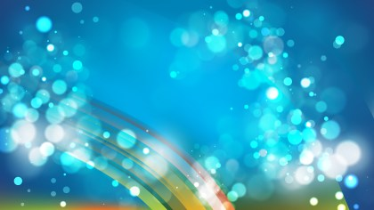 Abstract Blue and Green Bokeh Defocused Lights Background Vector