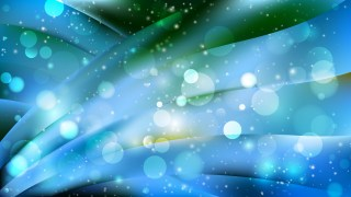 Abstract Blue and Green Bokeh Background Vector
