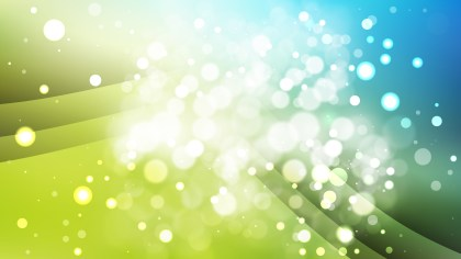 Abstract Blue and Green Blur Lights Background Vector