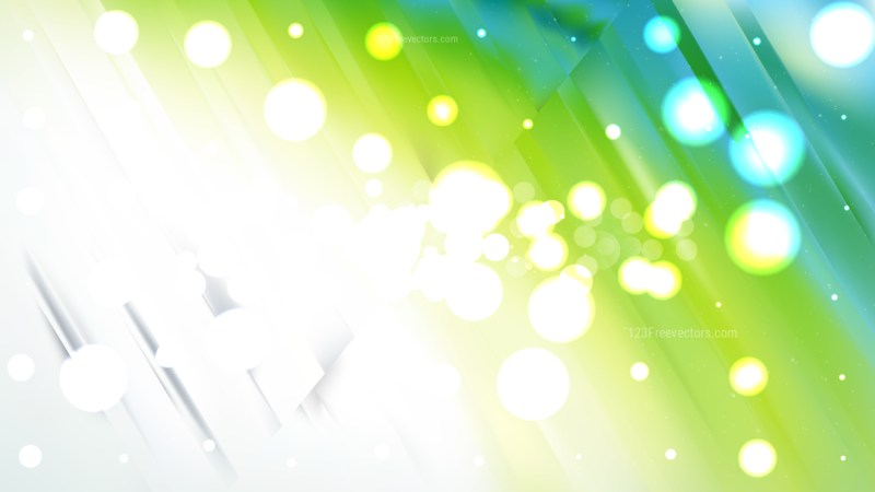 Abstract Blue and Green Blurry Lights Background Image