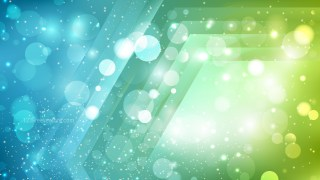 Abstract Blue and Green Bokeh Defocused Lights Background Image