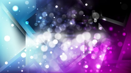 Abstract Blue and Purple Bokeh Lights Background Design