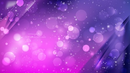 Abstract Blue and Purple Defocused Lights Background Design