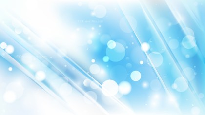 Abstract Blue and White Blurred Bokeh Background