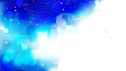 Abstract Blue and White Bokeh Defocused Lights Background Vector