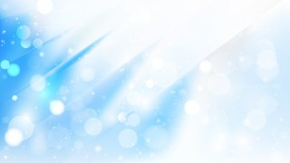 Abstract Blue and White Bokeh Lights Background Image