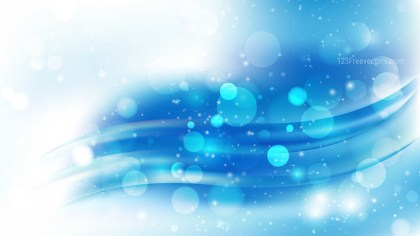 Abstract Blue and White Blurred Lights Background Design