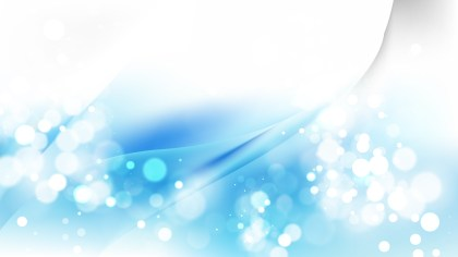 Abstract Blue and White Blurry Lights Background Vector