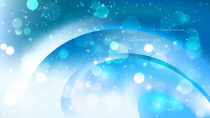 Abstract Blue and White Defocused Background Image
