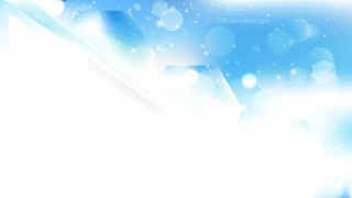 Abstract Blue and White Bokeh Background Vector