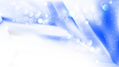 Abstract Blue and White Defocused Lights Background Vector
