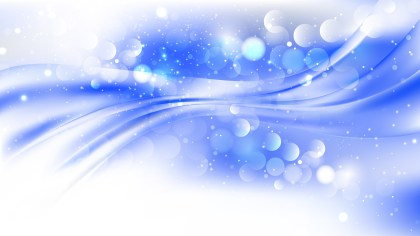 Abstract Blue and White Blurred Bokeh Background Vector