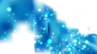 Abstract Blue and White Blur Lights Background Vector