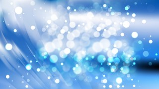 Abstract Blue and White Blurry Lights Background Image