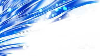 Abstract Blue and White Blurred Bokeh Background Image