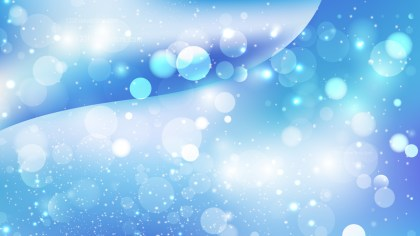 Abstract Blue and White Bokeh Background Design