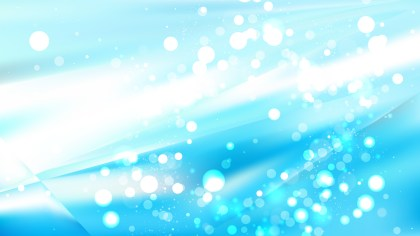 Abstract Blue and White Bokeh Defocused Lights Background Design
