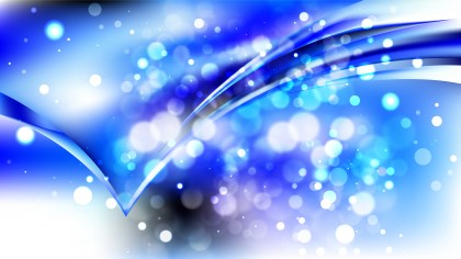 Abstract Blue and White Blurry Lights Background Design