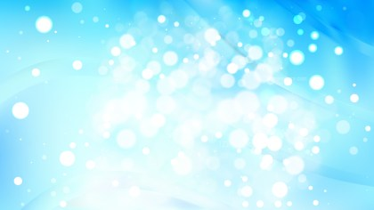 Abstract Blue and White Blurred Bokeh Background Design