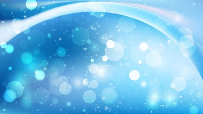 Abstract Blue and White Blurry Lights Background
