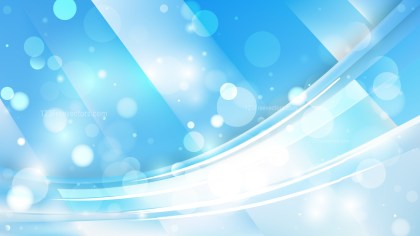 Abstract Blue and White Lights Background