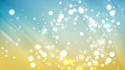 Abstract Blue and Yellow Bokeh Lights Background Vector