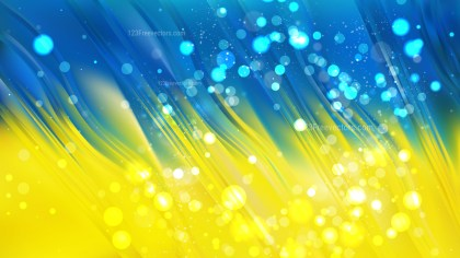 Abstract Blue and Yellow Blur Lights Background Vector