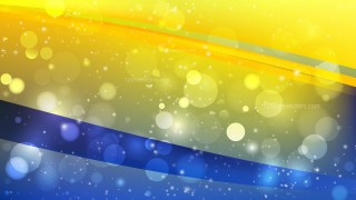Abstract Blue and Yellow Blurry Lights Background Vector