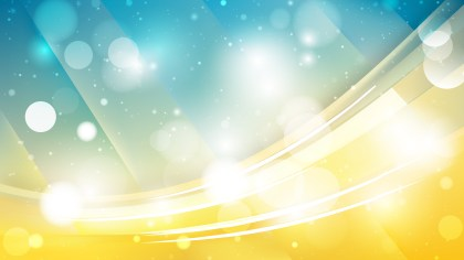 Abstract Blue and Yellow Blurred Bokeh Background Vector
