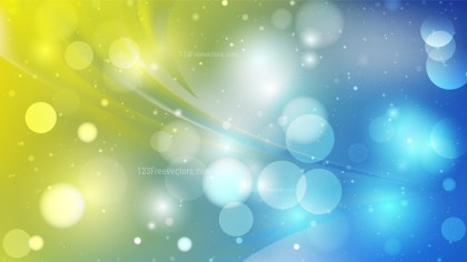 Abstract Blue and Yellow Bokeh Background Image