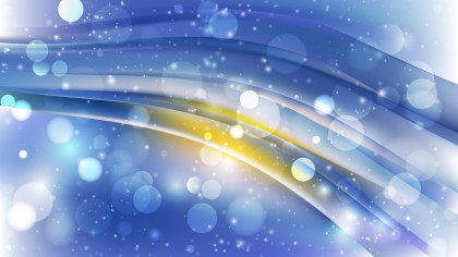 Abstract Blue and Yellow Blurry Lights Background Image
