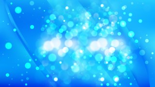 Abstract Bright Blue Bokeh Background Image