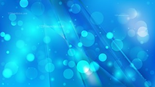 Abstract Bright Blue Blurry Lights Background Image