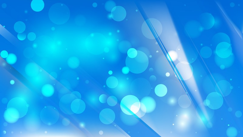 Abstract Bright Blue Blurred Bokeh Background Image