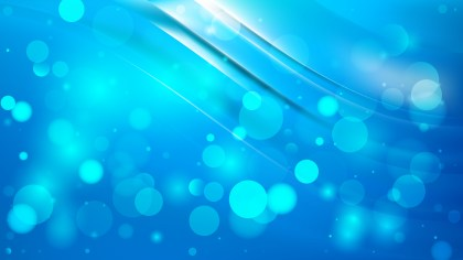 Abstract Bright Blue Bokeh Background Design