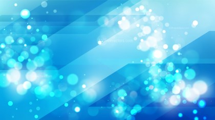 Abstract Bright Blue Bokeh Lights Background Design