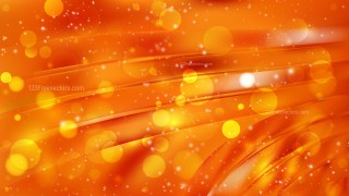 Abstract Bright Orange Bokeh Background Design