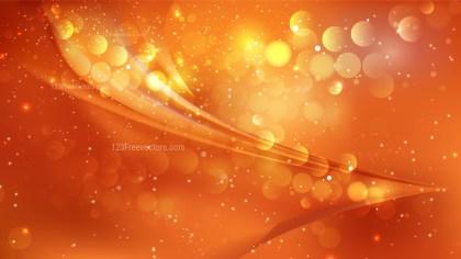 Abstract Bright Orange Lights Background Design