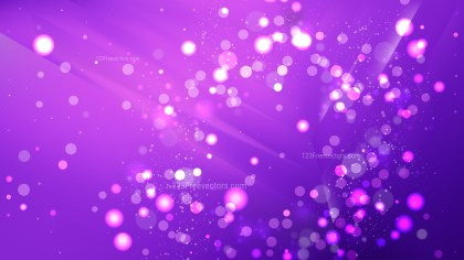 Abstract Bright Purple Bokeh Lights Background