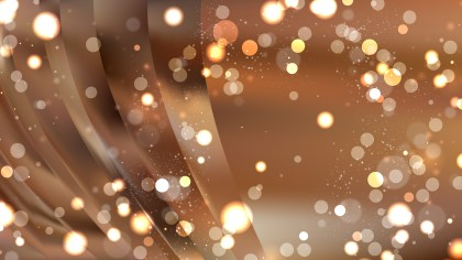 Abstract Brown Defocused Lights Background Image