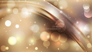 Abstract Brown Blurred Bokeh Background Design