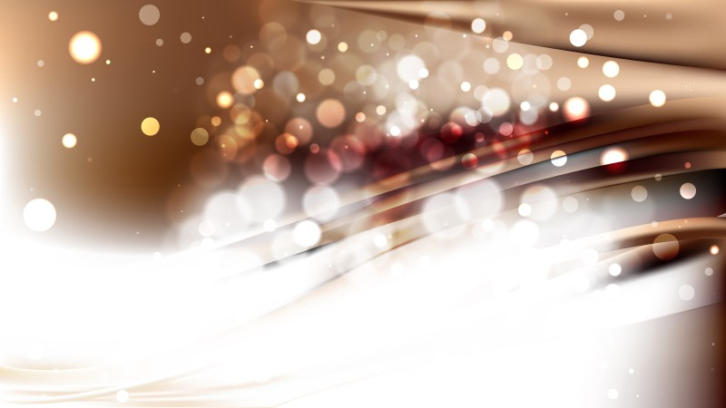 Abstract Brown and White Bokeh Background Vector