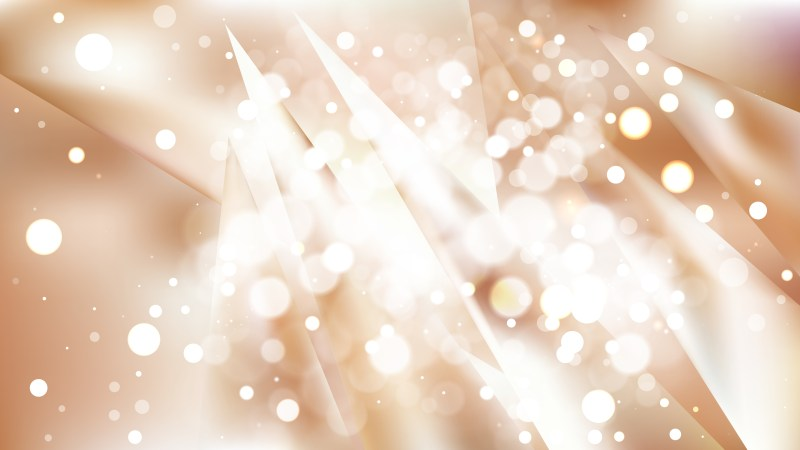 Abstract Brown and White Bokeh Defocused Lights Background Vector