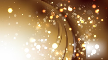 Abstract Brown and White Bokeh Lights Background Image