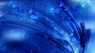 Abstract Cobalt Blue Blurred Bokeh Background Image