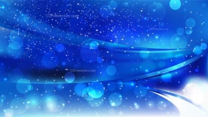 Abstract Cobalt Blue Blurry Lights Background