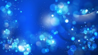 Abstract Cobalt Blue Lights Background