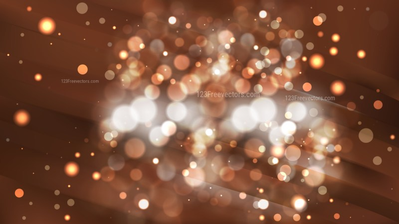 Abstract Coffee Brown Blurry Lights Background Vector