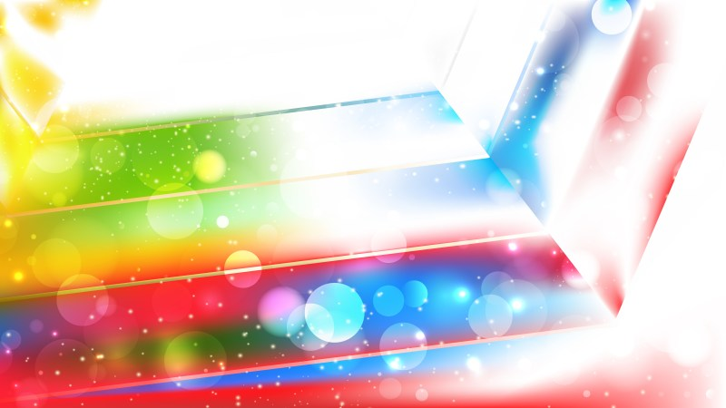 Abstract Colorful Blurry Lights Background Design
